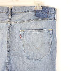 Levi's 501 Blue Jeans 38x30 Light Wash Button Fly